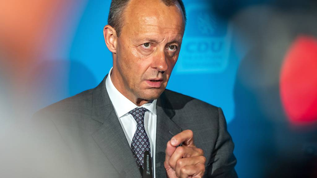 ARCHIV - CDU-Politiker Friedrich Merz spricht von einem «Tiefpunkt unserer Zusammenarbeit». Foto: Michael Reichel/dpa