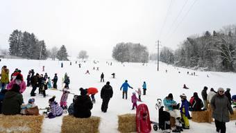 Der Skilift Röhrenmoos in Dietikon erfreut sich vor allem bei Kindern grosser Beliebtheit. Leider hat es selten genug Schnee.
