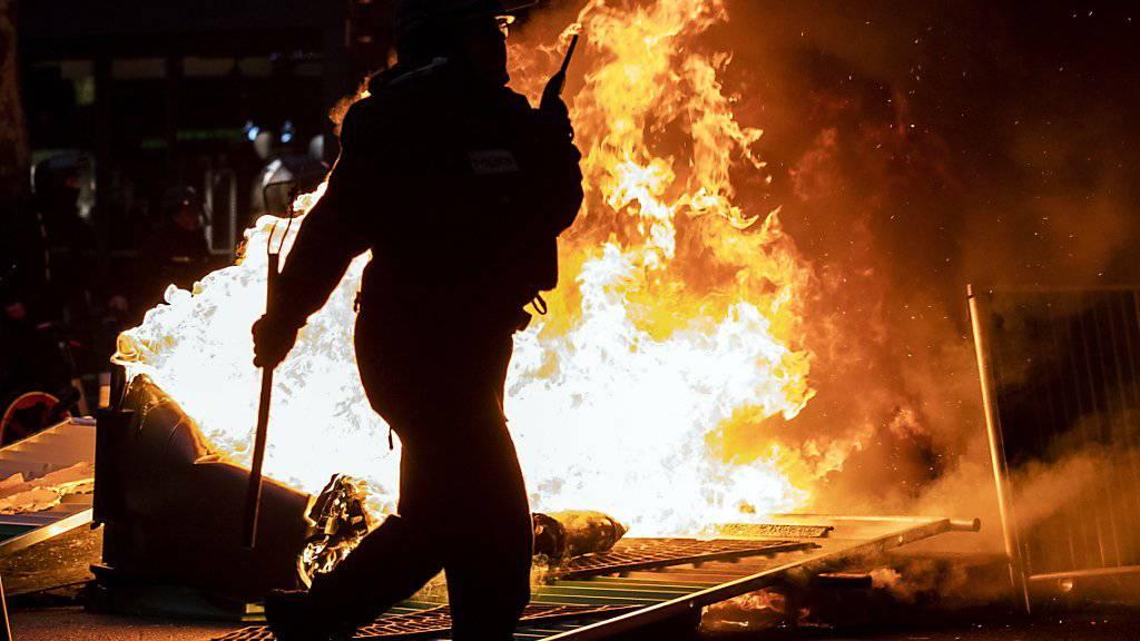 Bei den «Gelbwesten»-Protesten in Frankreich kam es am Samstag erneut zu Ausschreitungen.