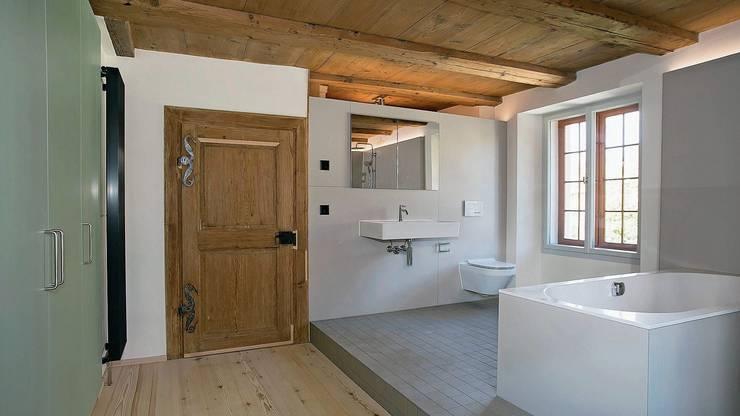 Simon Heusser kombinierte bei der Restaurierung historische Bausubstanz mit modernem Wohnkomfort.