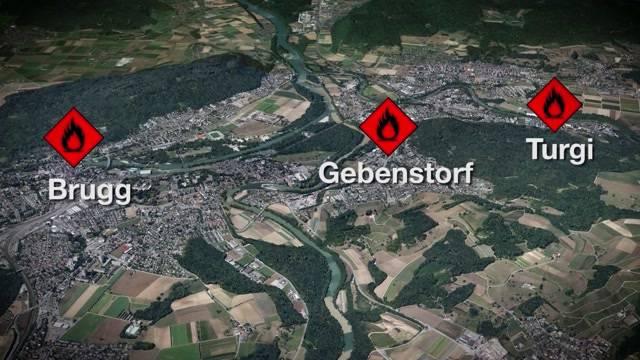 Mehrere Brandstiftungen in der Region Brugg