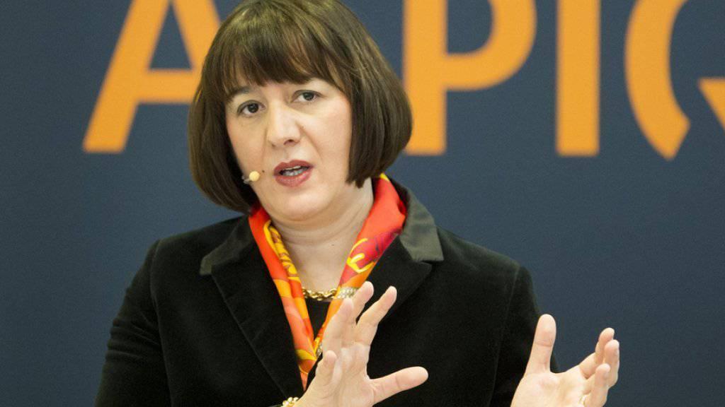 Den Verlust im ersten Halbjahr deutlich verringert: Alpiq-Chefin Jasmin Staiblin. (Archiv)