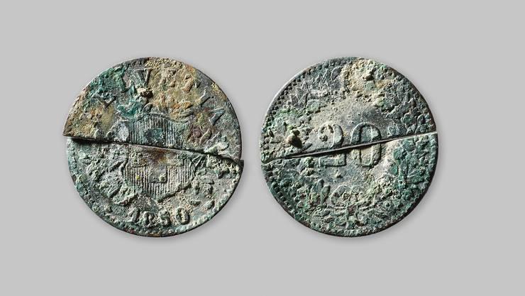 Bei den meisten Münzen handelte es sich um 20-Rappenstücke.