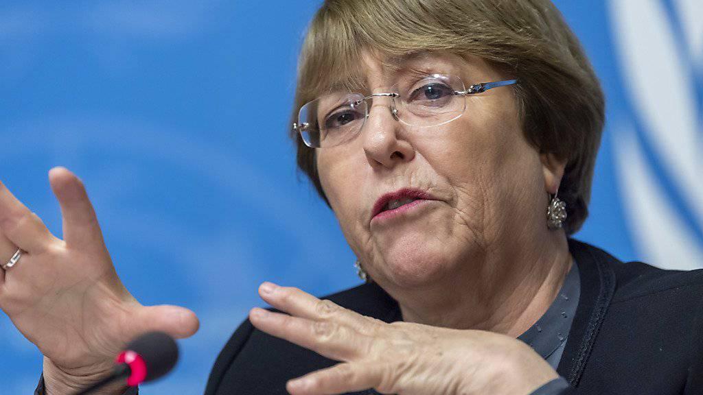 Uno-Menschenrechtskommissarin Michelle Bachelet warnte am Sonntag vor wachsenden Ausgrenzungstendenzen. Sie prangerte am Holocaust-Gedenktag die Tendenz an, die Ereignisse des Holocaust zu verharmlosen oder gar zu leugnen. (Archivbild)
