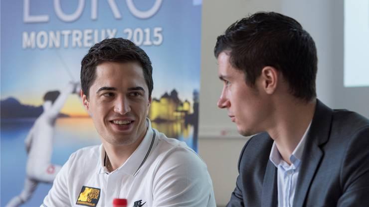Max Heinzer (links), die aktuelle Weltnummer 4, stellt das Team über alles. Denn es winkt die Teilnahme in Rio.