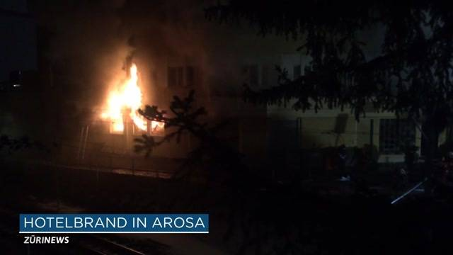 Grossbrand im Posthotel in Arosa