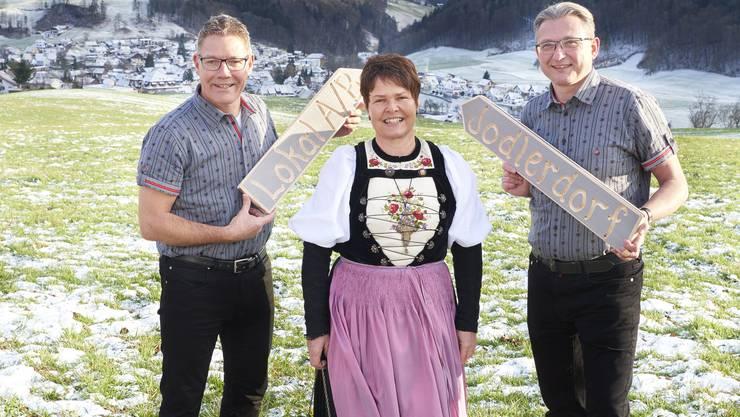 Jodlerfest Mümliswil OK v.l. Roland Fürst, Silvia Meister, Stephan Berger