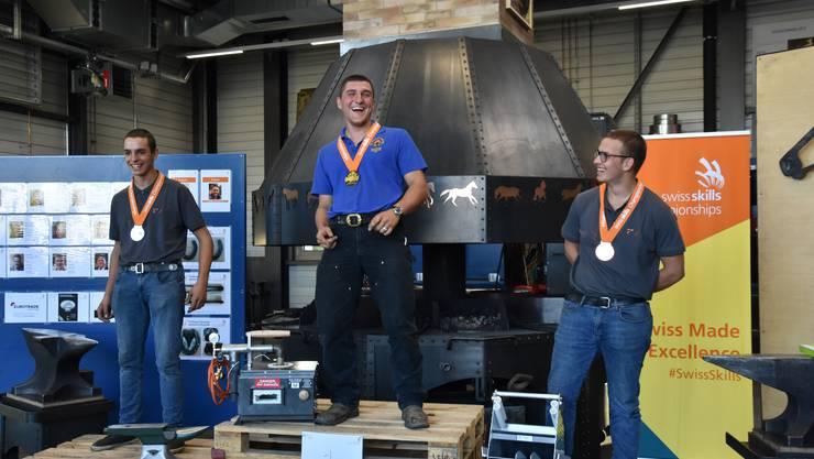 Er schaffte es ganz nach oben: Der Hufschmied Daniel Oetiker holt sich an den Berufsmeisterschaften die Goldmedaille.