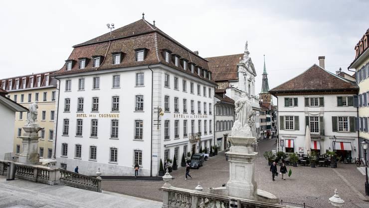 Start der Route Gourmande beim Hotel La Couronne in Solothurn