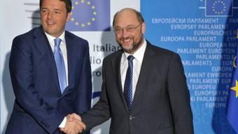 Matteo Renzi (links) mit Martin Schulz, Präsident des EU-Parlaments