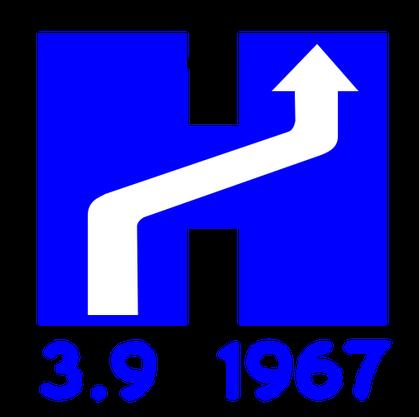 "Das offizielle Logo des ""Dagen H""."