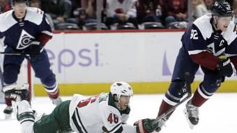 Minnesota Wild (hier Verteidiger Jared Spurgeon in weiss) ging in Denver zu Boden