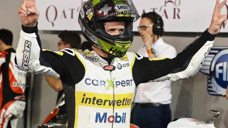 Tom Lüthi wechselt auf die kommende Saison in die MotoGP-Klasse (Archiv)