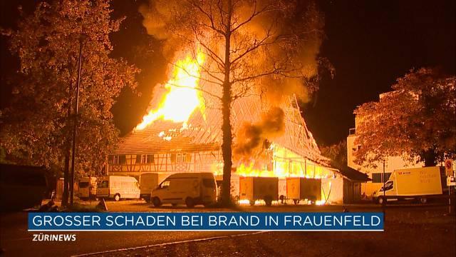 Bauernhaus brennt in Frauenfeld