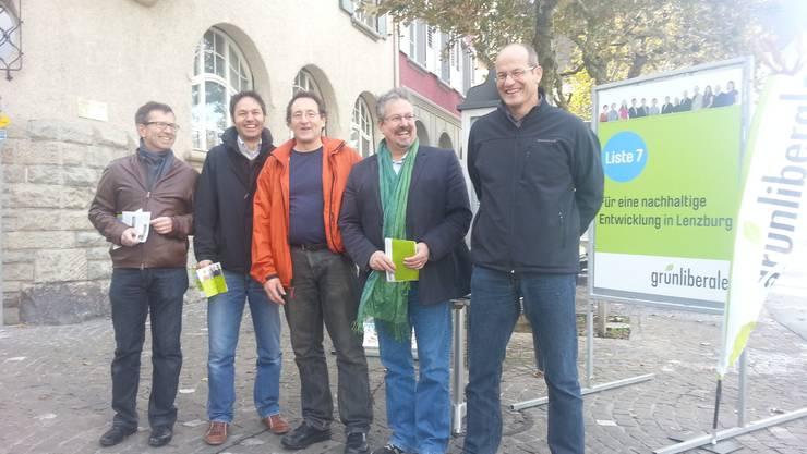 Beat Hiller, Martin Geissmann, Daniel Fischer, Beat Flach und Urs Hunziker beim Einsatz