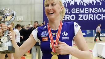 Voleros Mammadowa nach dem Gewinn der Schweizer Meisterschaft