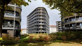 Entwickeltes Wohnen auf dem alten Kinderspital-Areal: Das Ensemble am Schaffhauserrheinweg.