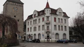 Hotel Bahnhof in Laufenburg. - Foto: Walter Christen (26.01.2010)