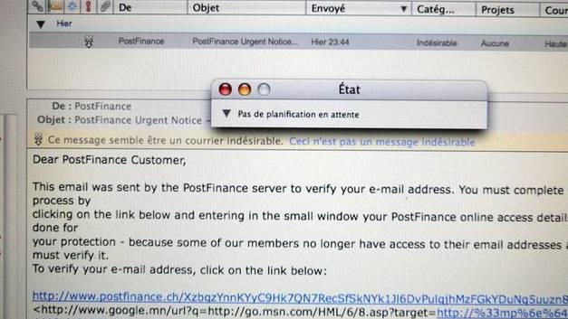 Ein Phishing-Mail (Symbolbild)