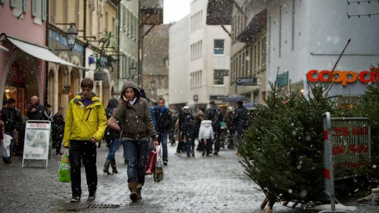 Sonntagsverkauf in Aarau.