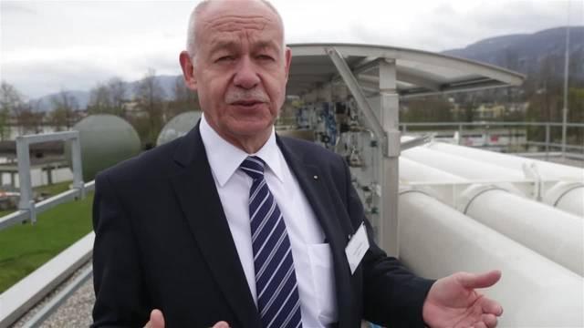 Hybridwerk Aarmatt in Zuchwil - Felix Strässle von der Regio Energie Solothurn erklärt die neuen Entwicklungsschritte