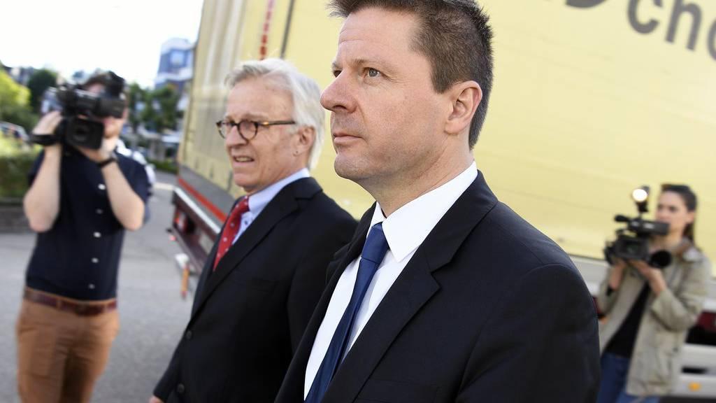 Martin Bäumle vor dem Bezirksgericht in Uster.