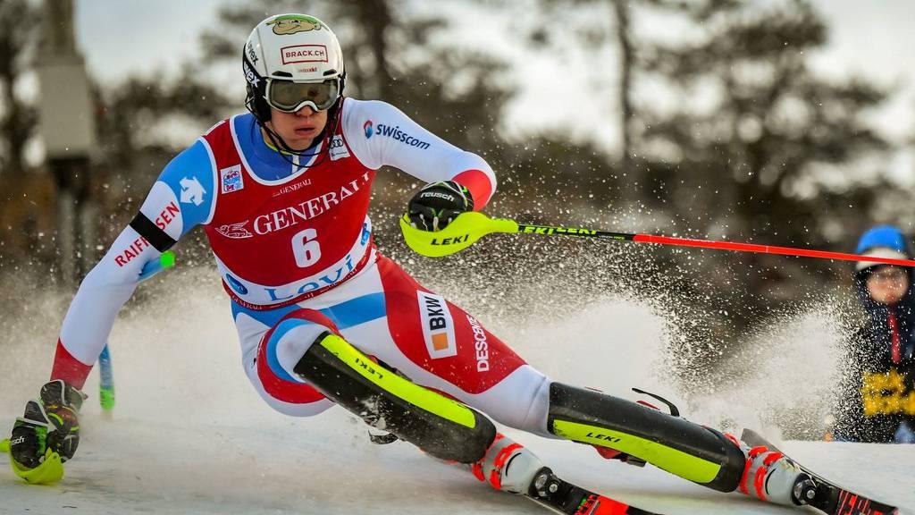 Fast wäre Ramon Zenhäusern beim Slalom in Levi auf dem Podest gelandet – er wurde Vierter.