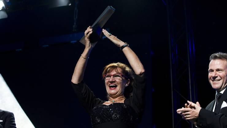 Claire Hoerdt freut sich über die Wahl zur Aargauerin des Jahres 2011.
