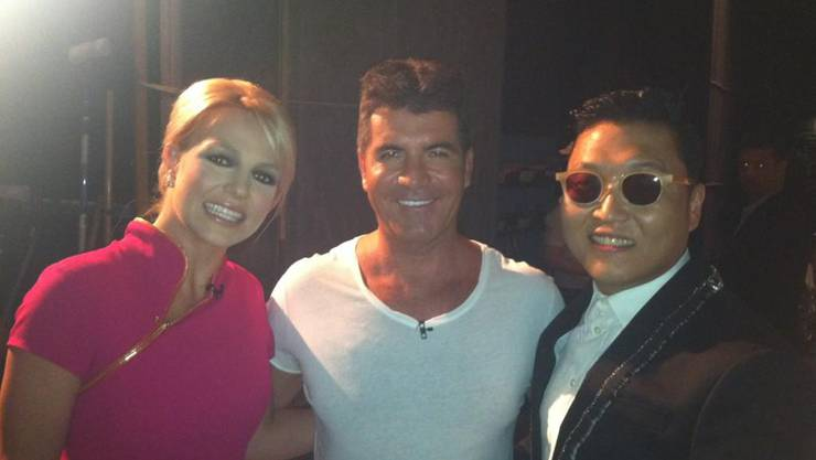 Britney Spears, Simon Cowell und Psy