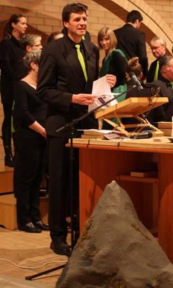 Pfarrer Andreas Haag singt selbst im Gospelchor Spirit of Hope mit