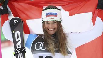 Corinne Suter beweist mit ihrem Silbermedaillen-Gewinn mentale Stärke.