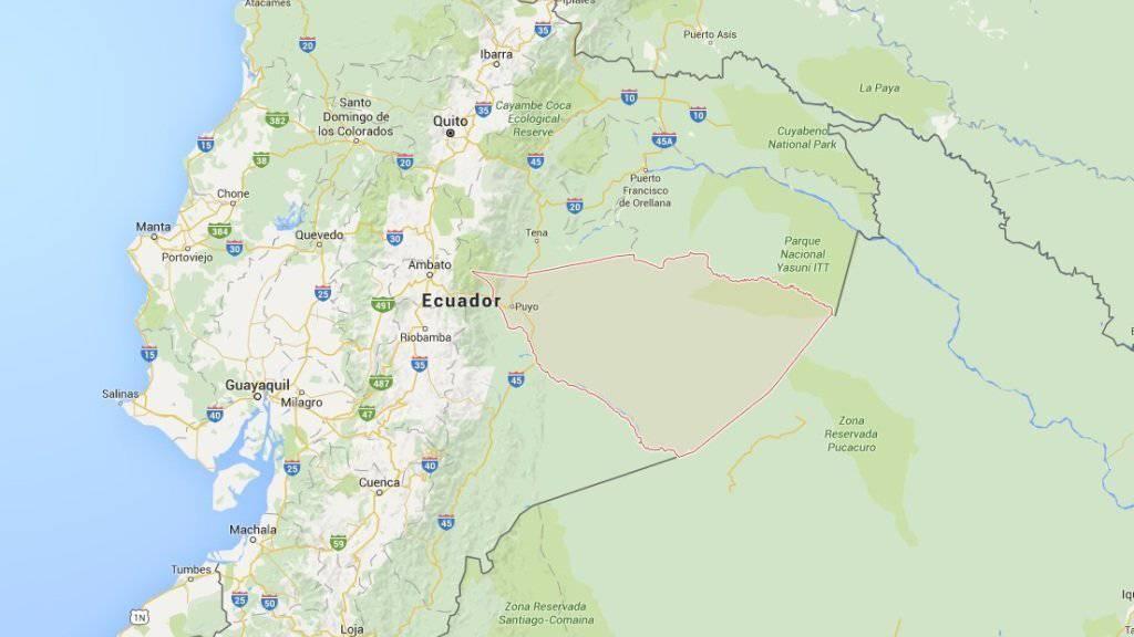 In der Grenzregion zu Peru stürzte ein ecuadorianisches Armeeflugzeug ab - alle 22 Menschen an Bord starben. (Bild: googlemaps)