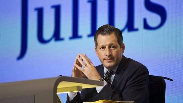 Der Julius-Bär-CEO Boris F. J. Collardi an der ausserordentlichen GV in Zürich