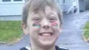 Der achtjährige Tyler.