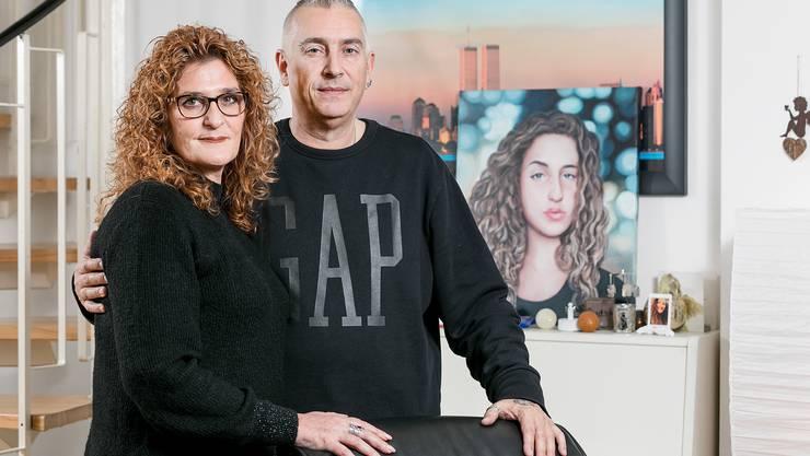 Die Eltern: Candid und Nadya Pfister. Céline war ihr einziges Kind.