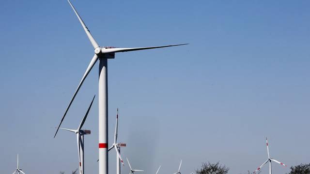 Windrädertestanlage in Norddeutschland (Archiv)
