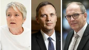 Gedreht: Jacqueline Fehr (SP/ZH), Jean-Pierre Gallati (SVP/AG), Bruno Damann (CVP/SG).