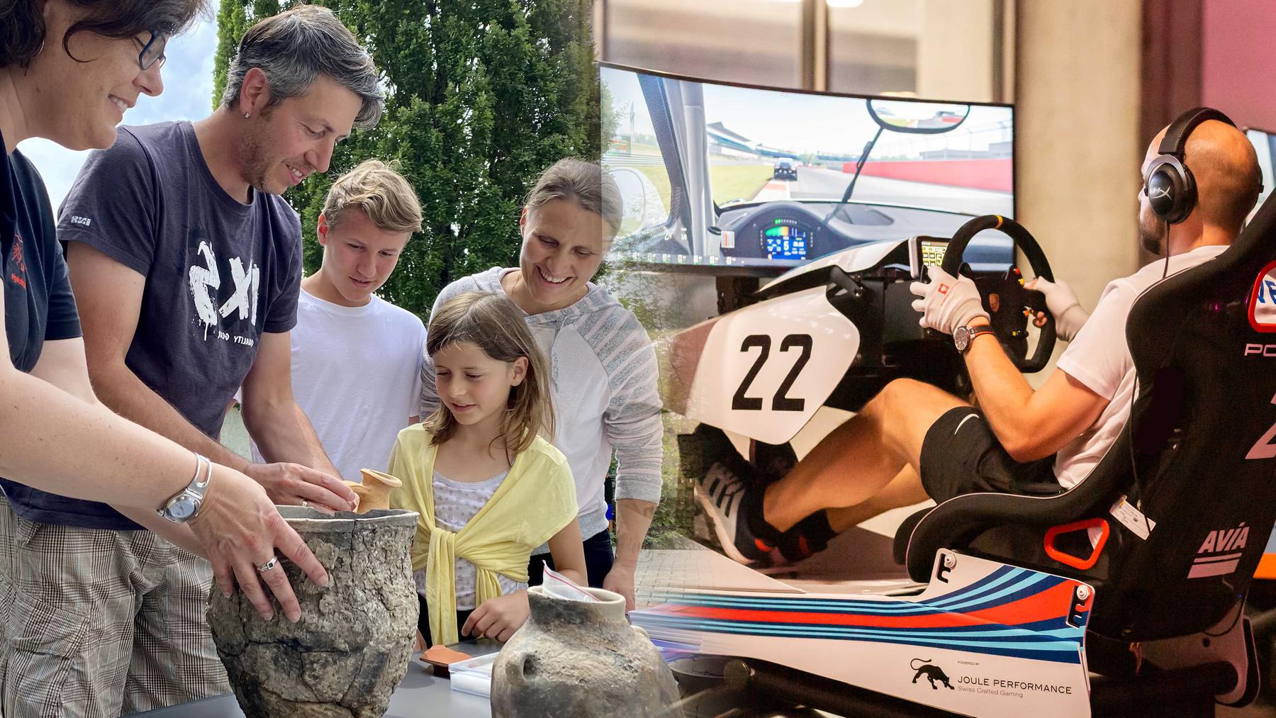 Archäologie und autovirtuelle Rennen - das kannst du an diesem Wochenende unternehmen.