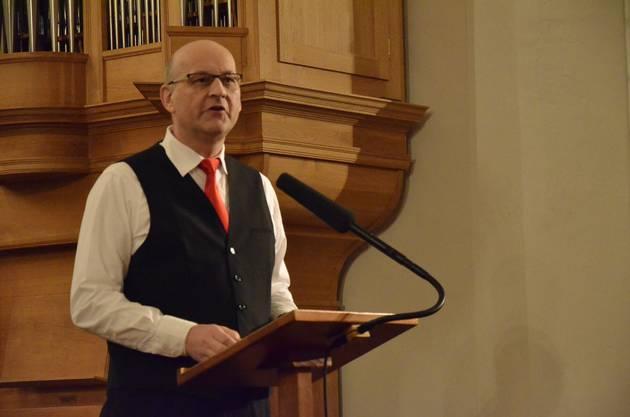 Walter Telser, Präsident der Stadtmusik Brugg.