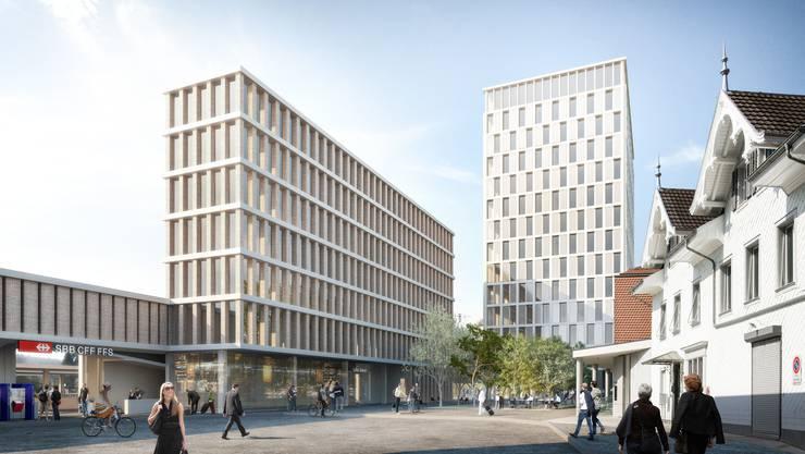 Die Liestaler haben keine Angst vor dem ersten «Wolkenkratzerli»: Sie stimmten dem neuen Bahnhof samt SBB-Hochhaus überaus deutlich zu.