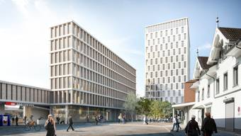Der Liestaler Einwohnerrat steht nicht nur hinter dem neuen Bahnhof, sondern auch hinter dem geplanten Hochhaus.