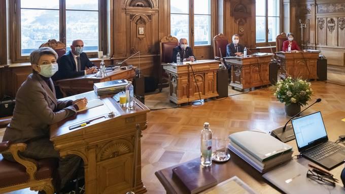 Das Bundesratszimmer.