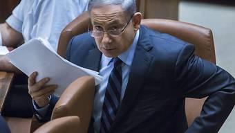 Israels Premier in der Knesset (Archiv)