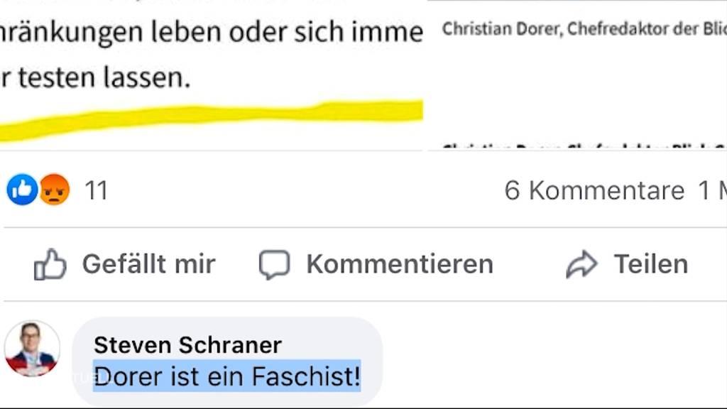 Unschöner Angriff: Aargauer SVP-Politiker bezeichnet Blick-Chefredaktor Dorer als Faschist