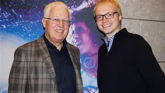 Kinobetreiber Peter Sterk mit Regisseur Christian Keller, der mit seinem Filmdebüt grosse Wellen schlägt.