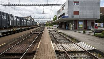 Der BLS Bahnhof Biberist Ost.