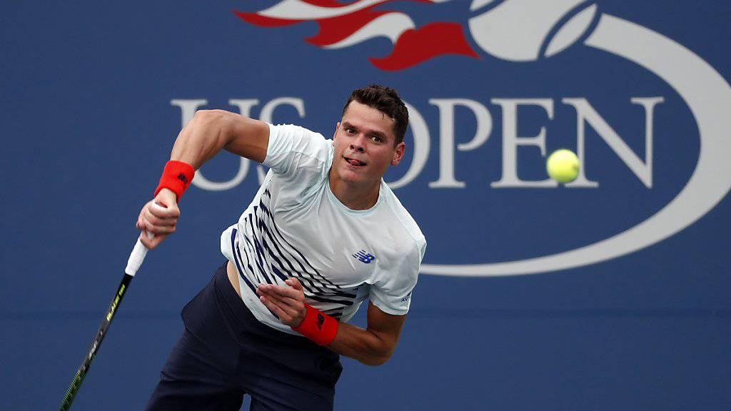 Mit den Kräften am Ende: Wimbledonfinalist Milos Raonic schied am US Open bereits in der 2. Runde aus