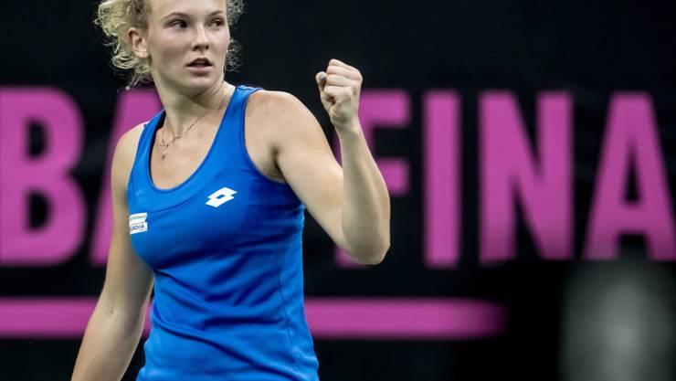 Katerina Siniakova ballt die Faust: Tschechien steht dicht vor einem weiteren Triumph im Fed Cup