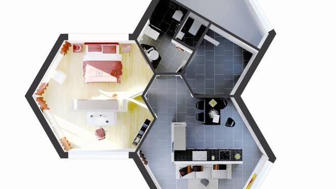 Einzigartig: Die Wabenbauten können beliebig miteinander kombiniert werden. zvg
