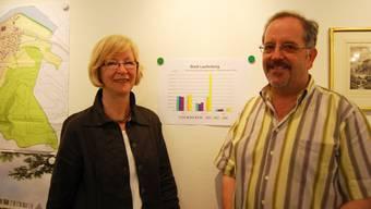 Stadträtin Ursula Jutzi und Finanzverwalter Florian Gertiser können Erfreuliches über den Rechnungsabschluss 2008 von Laufenburg berichten
